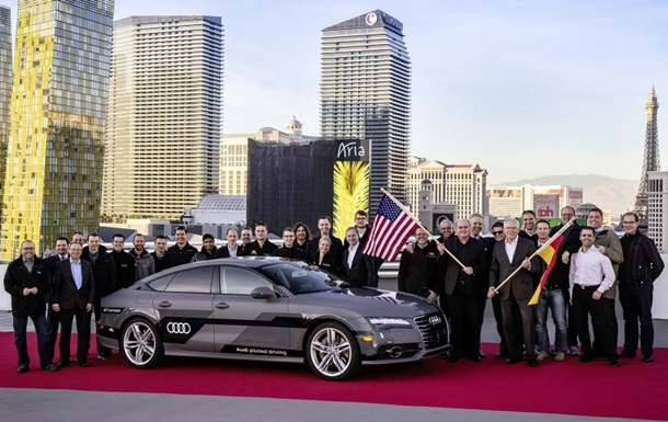 Концепт беспилотного Audi A7 проехал без водителя 900 километров