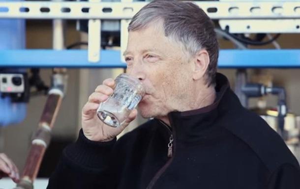 Билл Гейтс попробовал воду из фекалий