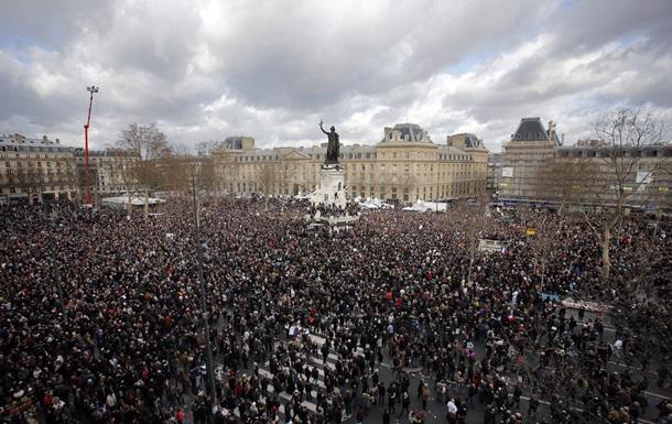 В Марше единства в Париже приняли участие более 1,5 миллиона человек
