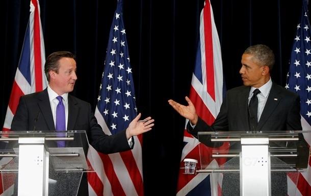 Обама и Кэмерон договорились продолжать давить на Россию