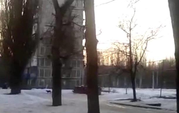 Обнародовано видео из обстрелянной Авдеевки