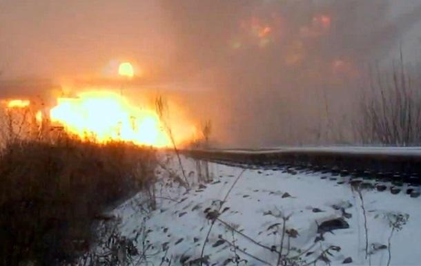 Сепаратисты показали видео подрыва моста в Луганской области