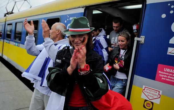 В Польше 200 человек устроили драку в поезде