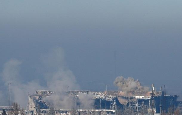 В донецком аэропорту рухнул терминал, ранены бойцы АТО