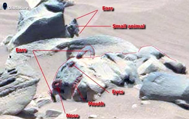 Марсоход Curiosity обнаружил  статую кошки