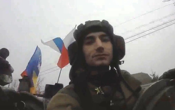 Российские танкисты ездят на Донбассе, январь 2015