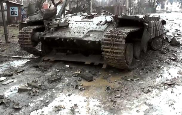 Обнародовано видео из Углегорска после нескольких дней боев
