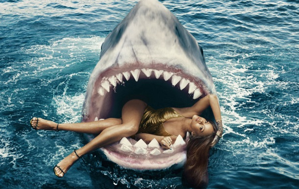 Рианна снялась с акулами в фотосессии для Harper s Bazaar