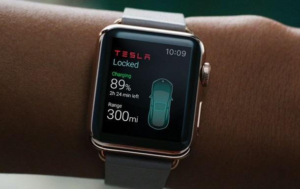 Украинцы создали первое приложение для управления авто Tesla c Apple Watch