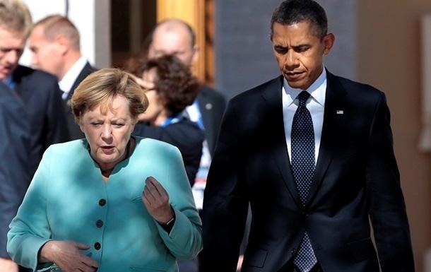Меркель обсуждает мирные предложения по Украине с Обамой