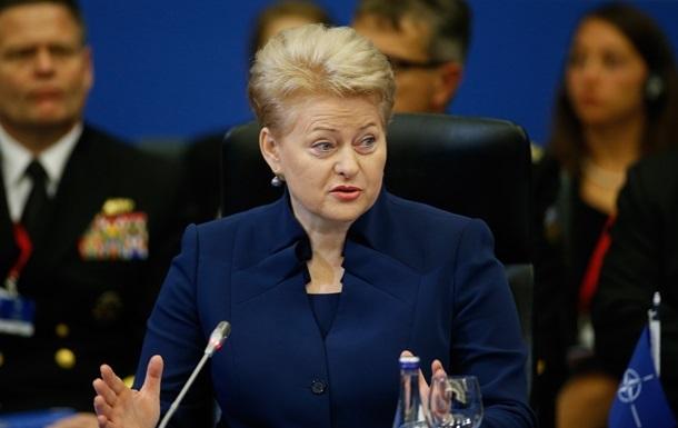 До марта санкции против России пересматривать не будут - Грибаускайте
