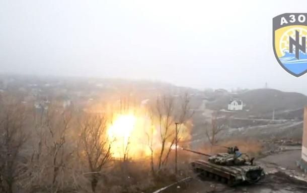 Опубликовано видео утреннего боя в Широкино