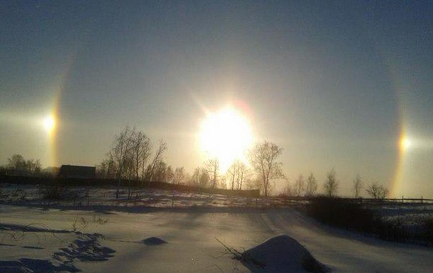 Над Челябинском взошло  три солнца