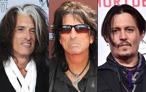 Джонни Депп, Элис Купер и гитарист Aerosmith создали супергруппу