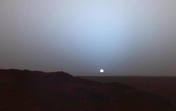 NASA показало закат на Марсе