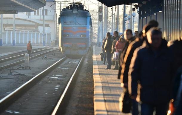 В Киеве на крыше поезда погиб экстремал