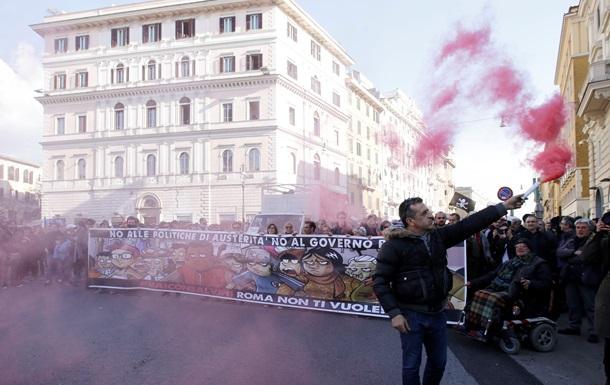 В Риме митингуют за отставку премьер-министра