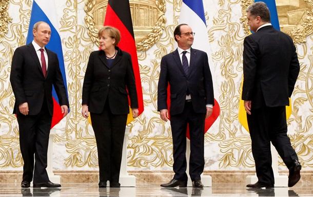 Путин пообщается в понедельник с Порошенко, Меркель и Олландом