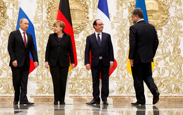 Лидеры  нормандской четверки  обсудили ситуацию на Донбассе