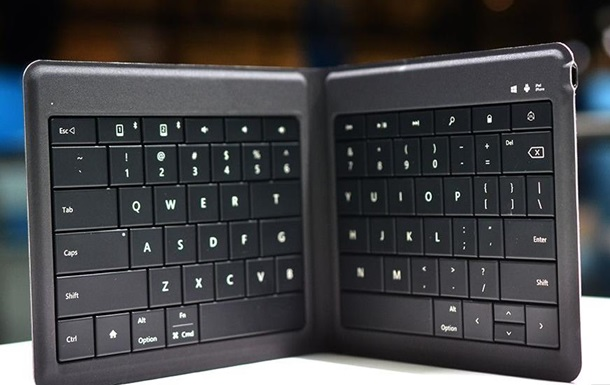 Microsoft представила складную клавиатуру на магнитах