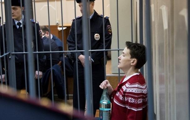 Савченко просит разработать для нее сбалансированное питание