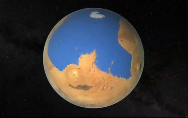 Марс потерял целый океан воды