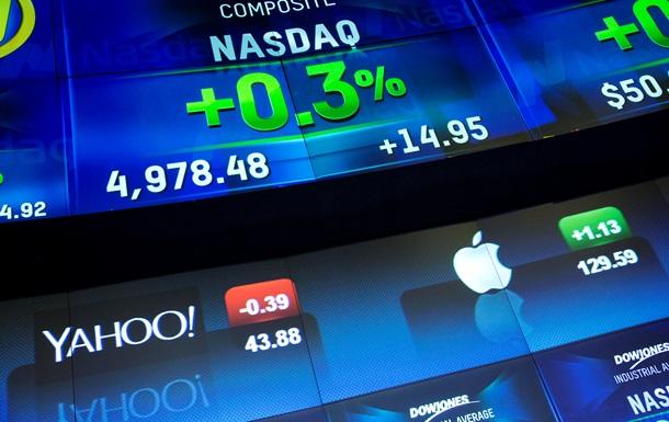 Торги на фондовых биржах США завершились снижением котировок