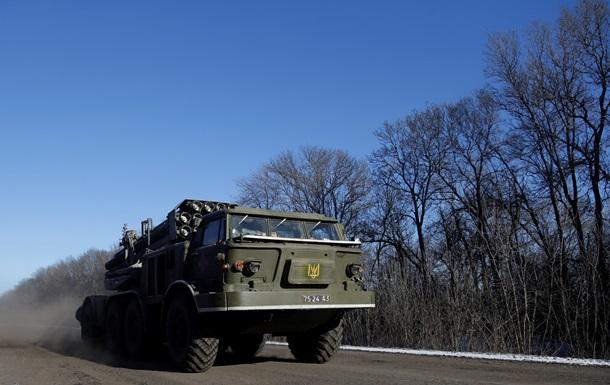 Силы АТО завершили четвертый этап отвода тяжелого оружия - штаб