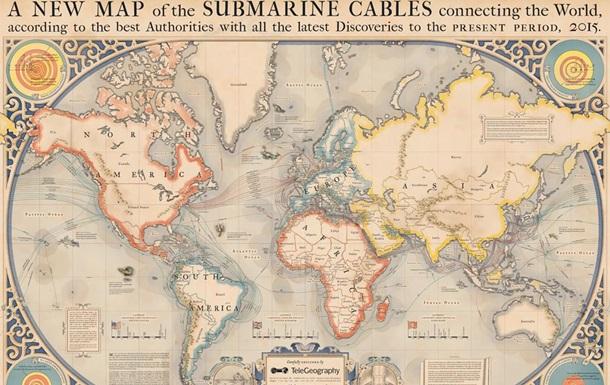 В США создана  морская карта интернета