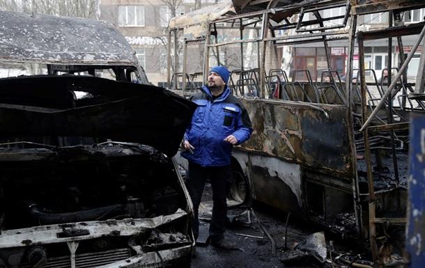 ОБСЕ снова зафиксировала обстрелы в районе аэропорта Донецка