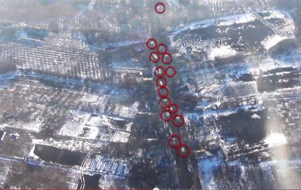 В сети появилось видео аэроразведки военных в зоне АТО