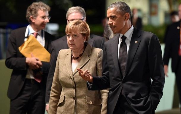 Обама и Меркель не намерены ослаблять санкции против России