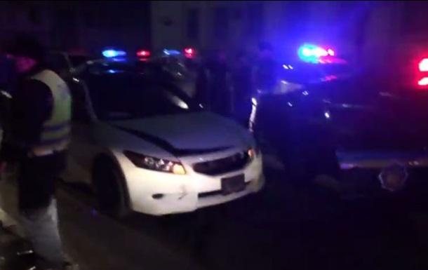 В Киеве гаишники ловили нарушителя по всему городу