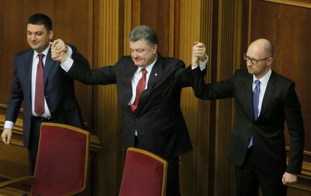 Украинцы не одобряют действий Порошенко, Яценюка и Гройсмана - опрос