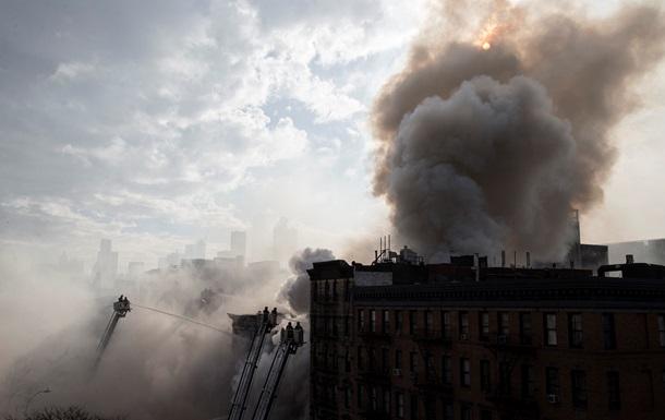 Пожар в центре Нью-Йорка: сгорели три здания