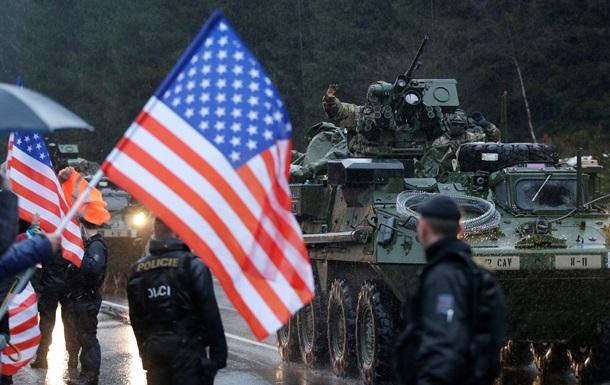 Три колонны военной техники США въехали в Чехию