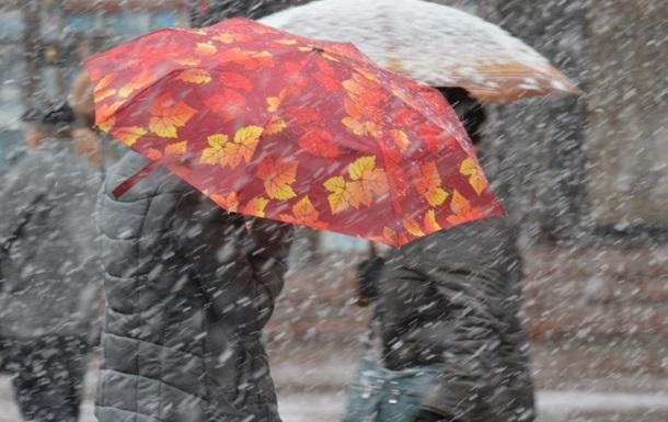 В пятницу Украину ожидают дожди и мокрый снег