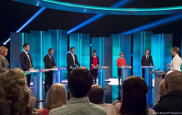 Теледебаты не выявили лидера на выборах в парламент Великобритании