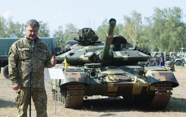 Порошенко: Украина быстро наращивает боевую мощность