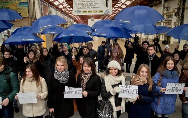 В Кишиневе прошла демонстрация против коррупции в правительстве