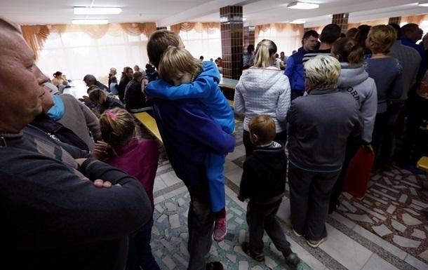Количество переселенцев в Украине превысило миллион человек
