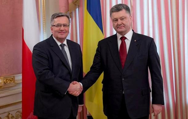 Польша поддержит введение миротворцев на Донбасс – Коморовский