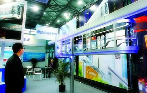В Шанхае показали новый  воздушный  поезд из стекла