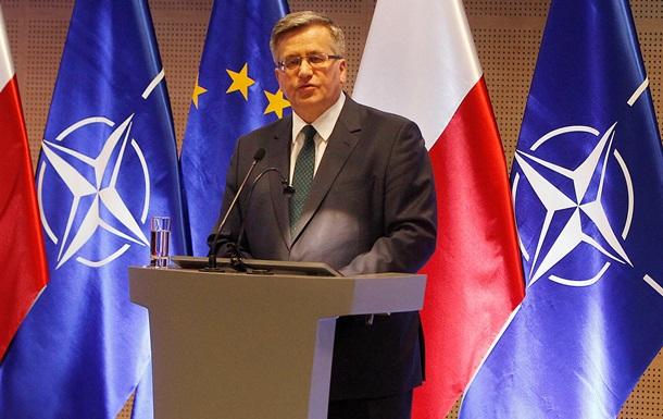 Коморовский не исключает, что Запад может попытаться отвернуться от Украины