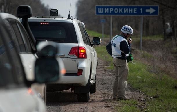 В ОБСЕ опровергли обстрел миссии  Азовом  в Широкино