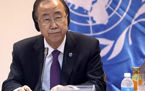 Пан Ги Мун напомнил Порошенко, что решение о миротворцах принимает Совбез