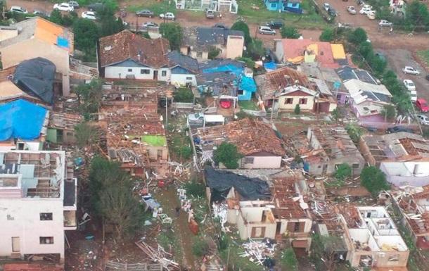 На юге Бразилии прошел мощный торнадо
