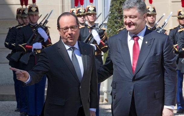 Олланд пока не видит необходимости в отправке миротворцев на Донбасс