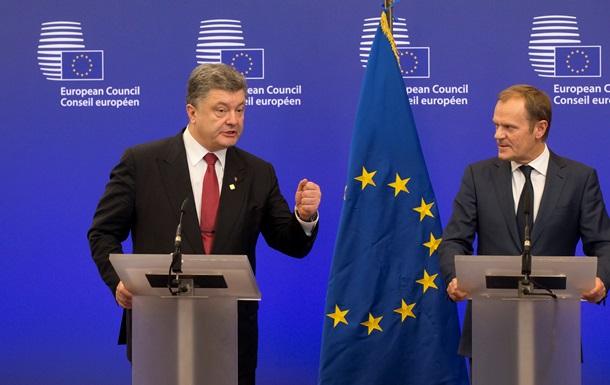 Порошенко обсудил с главой Евросоюза подготовку к саммиту Украина-ЕС