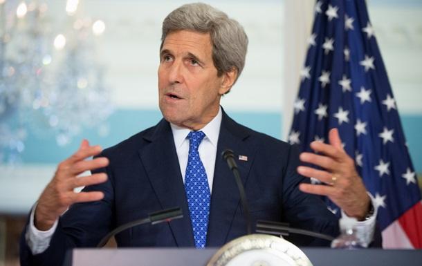 Санкции против РФ не будут сняты до выполнения минских соглашений - Керри